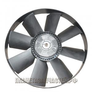 Вентилятор КАМАЗ-ЕВРО 758мм с вязкостной муфтой и обейчаткой СБ дв.740.37, 740.60, 63 BORG WARNER