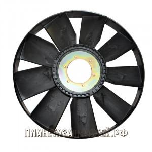 Вентилятор КАМАЗ-ЕВРО 704мм с обечайкой и плоским диском СБ (дв.740.50, 51) ТЕХНОТРОН