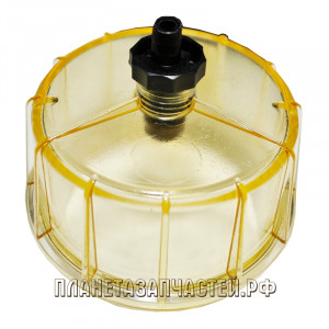 Крышка КАМАЗ-ЕВРО топливного фильтра, водосборный стакан RACOR