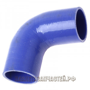 Патрубок МАЗ радиатора угловой силикон синий L=220мм d=60х70мм