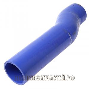 Патрубок МАЗ радиатора отводящий нижний синий силикон L=365мм, d=70х80мм, кривой ЕВРО-3