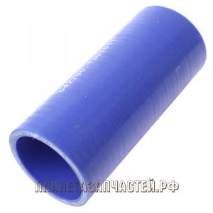 Патрубок МАЗ радиатора подводящий верхний синий силикон L=110мм d=42х52мм