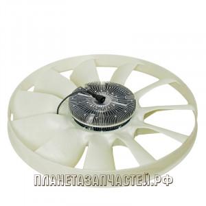 Вентилятор КАМАЗ-ЕВРО 750мм с вязкостной муфтой и обечайкой в сборе (дв.740.82-440) BORG WARNER