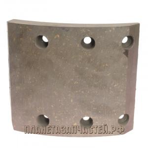 Накладка тормозной колодки КАМАЗ (13-) сверл.б/а Wшир.=140мм, Lдуги=154мм, hтолщ.=14/19мм ТИИР
